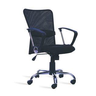 Cadeira-Vigo-Cromada-Preta