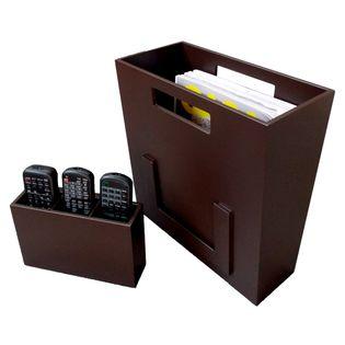 Organizador-De-Revista-E-Controle-Remoto-Imbuia