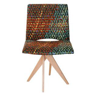 Cadeira-Samba-com-Base-de-Madeira-Tecido-Quadrados