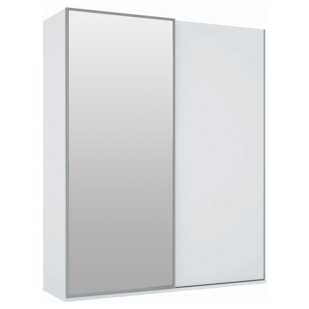 Armário Dadi 2 Portas Deslizantes com Espelho 1,94 m Branco