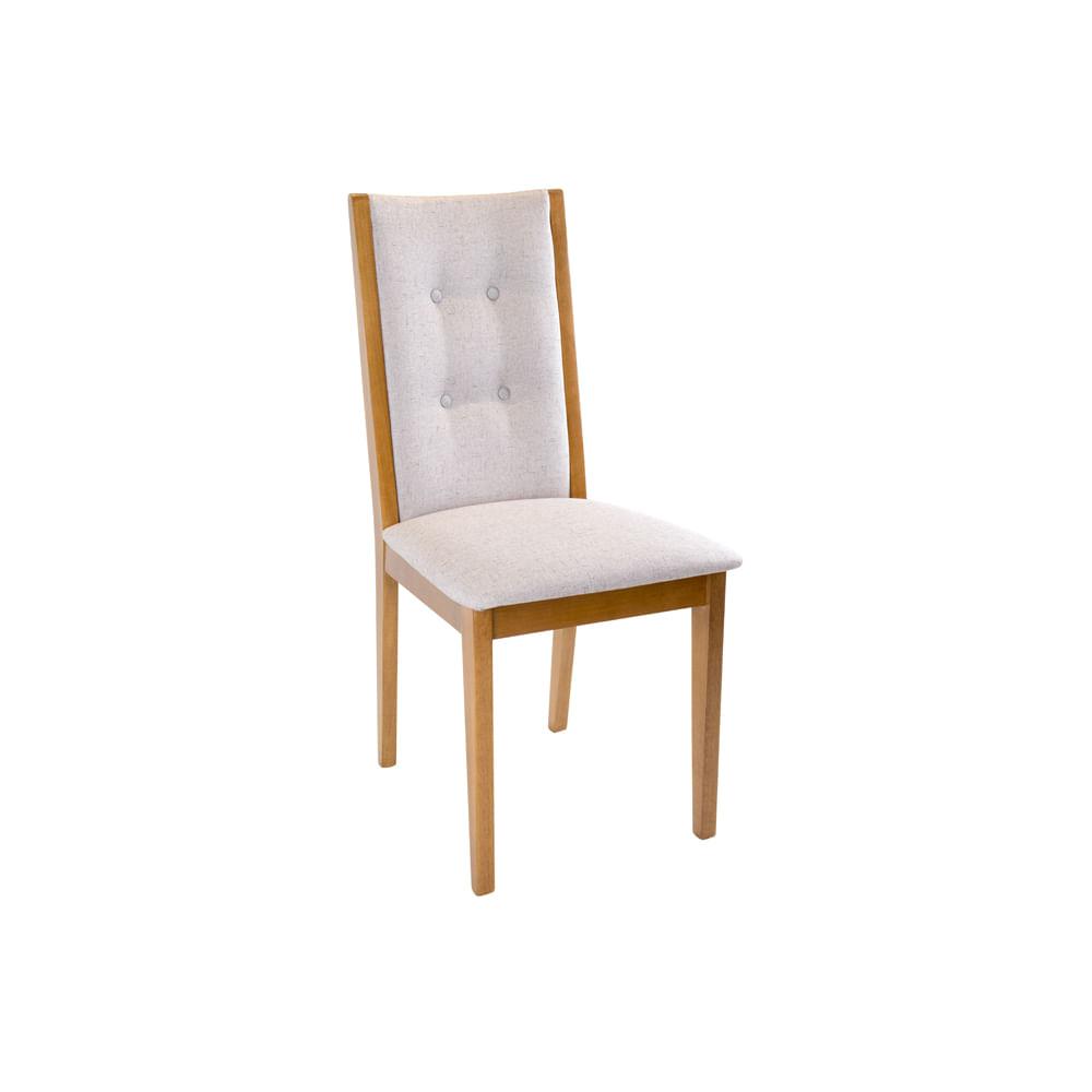 Cadeira Nico Tecido Rústico Chade Madeira Imbuia Mel