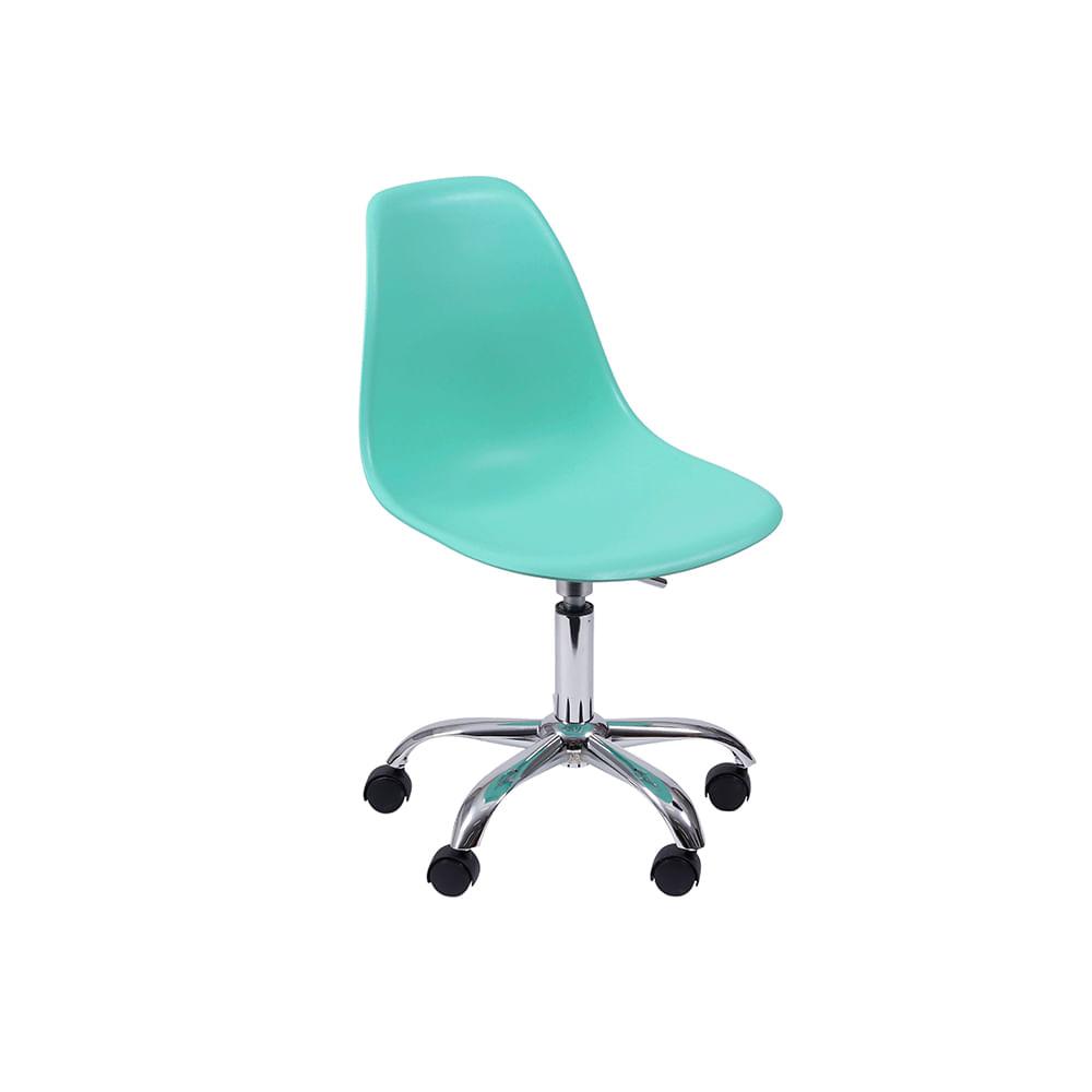 Cadeira de Escritório Eames Eiffel Giratória Verde Tiffany