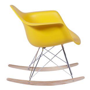 Cadeira Eiffel Com Braço Balanço Amarela