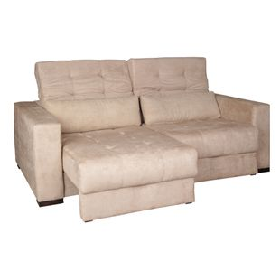 Sofa-Icone-Premium-Suede-Bege-Escuro-Com-Duas-Almofadas-200m