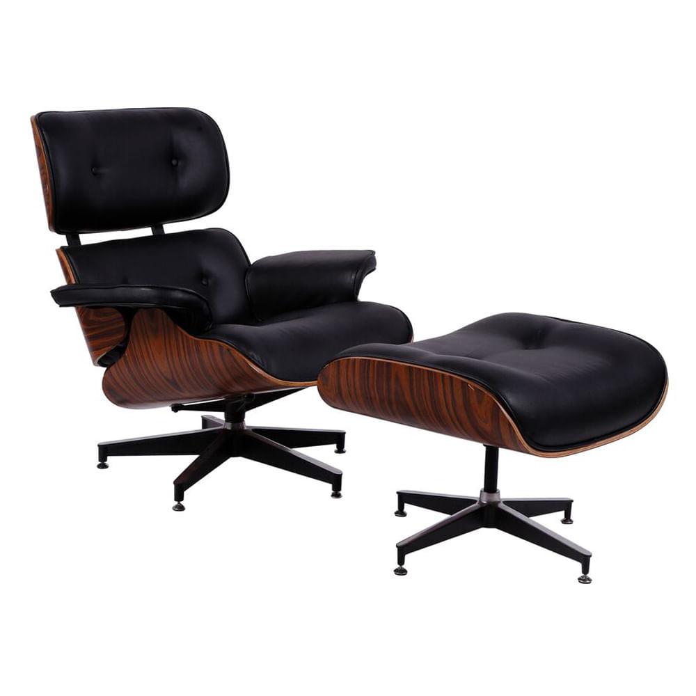 Poltrona-Charles-Eames-com-Puff-em-Courissimo-Preta