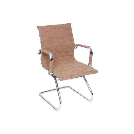 Cadeira-Madrid-Fixa-Cromada-Retro-Castanho