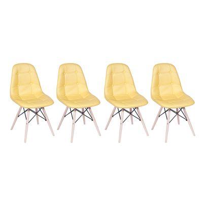 Conjunto-4-Cadeiras-Eames-Eiffel-Botone-Amarelo