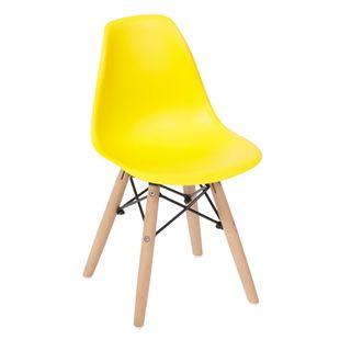 Cadeira-Eiffel-Infantil-Amarela-com-Pes-de-Madeira