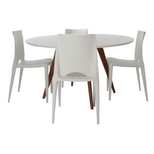 Mesa-de-Jantar-Square-Redonda-Branco-Fosco-90cm---4-Cadeiras-Zoe-Branca
