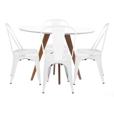 Mesa-de-Jantar-Square-Redonda-Branco-Fosco-90cm---4-Cadeiras-Tolix-Branca-Nova-Versao