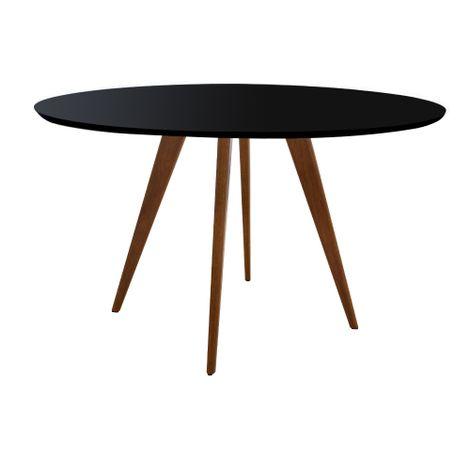 Mesa-Square-Redonda-Tampo-Vidro-Color-Preto-135cm
