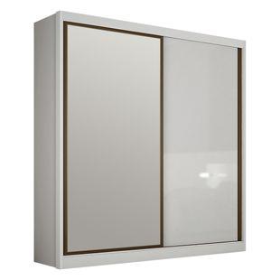 Armário Genova 1 portas deslizante e 1 porta deslizante com espelho 1,84m