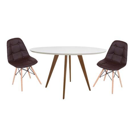 Conjunto-Mesa-Square-Red-Tampo-Branco-Fosco-80-com-2-Cadeiras-Eiffel-Botone-Marrom