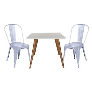 Conjunto-Mesa-Square-Quadrada-Tampo-Branco-Fosco-90x90-com-2-Cadeiras-Tolix-Cinza-Metalico