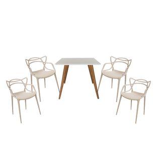 Conjunto-Mesa-Square-Quadrada-Tampo-Branco-Fosco-90x90-com-4-Cadeiras-Allegra-Fendi