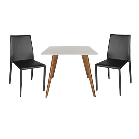 Conjunto-Mesa-Square-Quadrada-Tampo-Branco-Fosco-90x90-com-2-Cadeiras-Noga-Preto