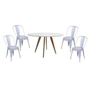 Conjunto-Mesa-Square-Redonda-Tampo-Branco-Fosco-88-com-4-Cadeiras-Tolix-Cinza-Metalico