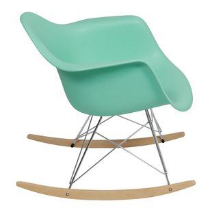 Cadeira Eiffel Com Braço Balanço Verde Tifanny