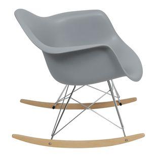 Cadeira Eiffel Com Braço Balanço Cinza