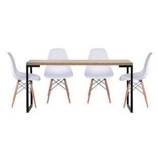 conjunto-mesa-yuma-tampo-Oak-160m-com-4-cadeiras-eiffel-branca