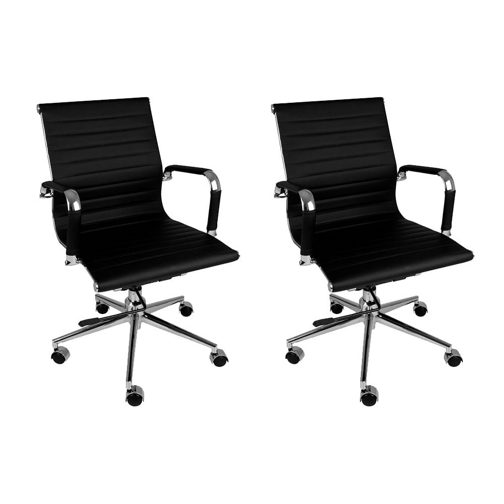 Kit-Cadeira-Madrid-Cromada-Preta–2-unidades