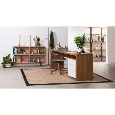 kit-escritorio-bancada-180cm-modulo-gavetas-louro-freijo-poltrona-noruega-cobre-baixa-ambiente