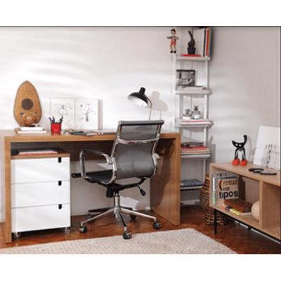 kit-escritorio-bancada-136cm-modulo-gavetas-louro-freijo-poltrona-noruega-cinza