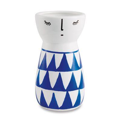 vaso-em-ceramica-boneca-triangulos-azul-e-branco