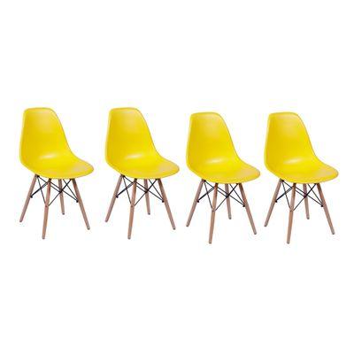kit-de-cadeiras-eiffel-amarela-com-base-madeira-4-unidades