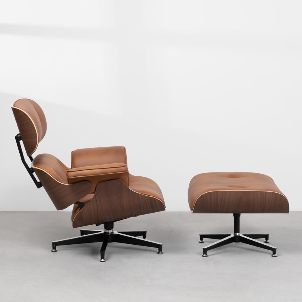 poltrona-charles-eames-com-puff-caramelo-lateral