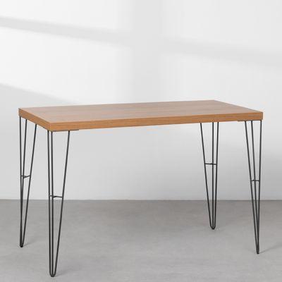 mesa-industrial-iron-louro-freijo-115cm-base-grafite