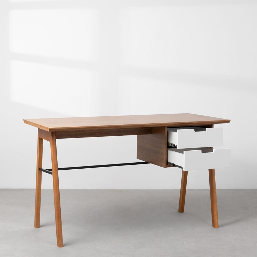 escrivaninha-vintage-louro-freijo-e-branco-gavetas-abertas