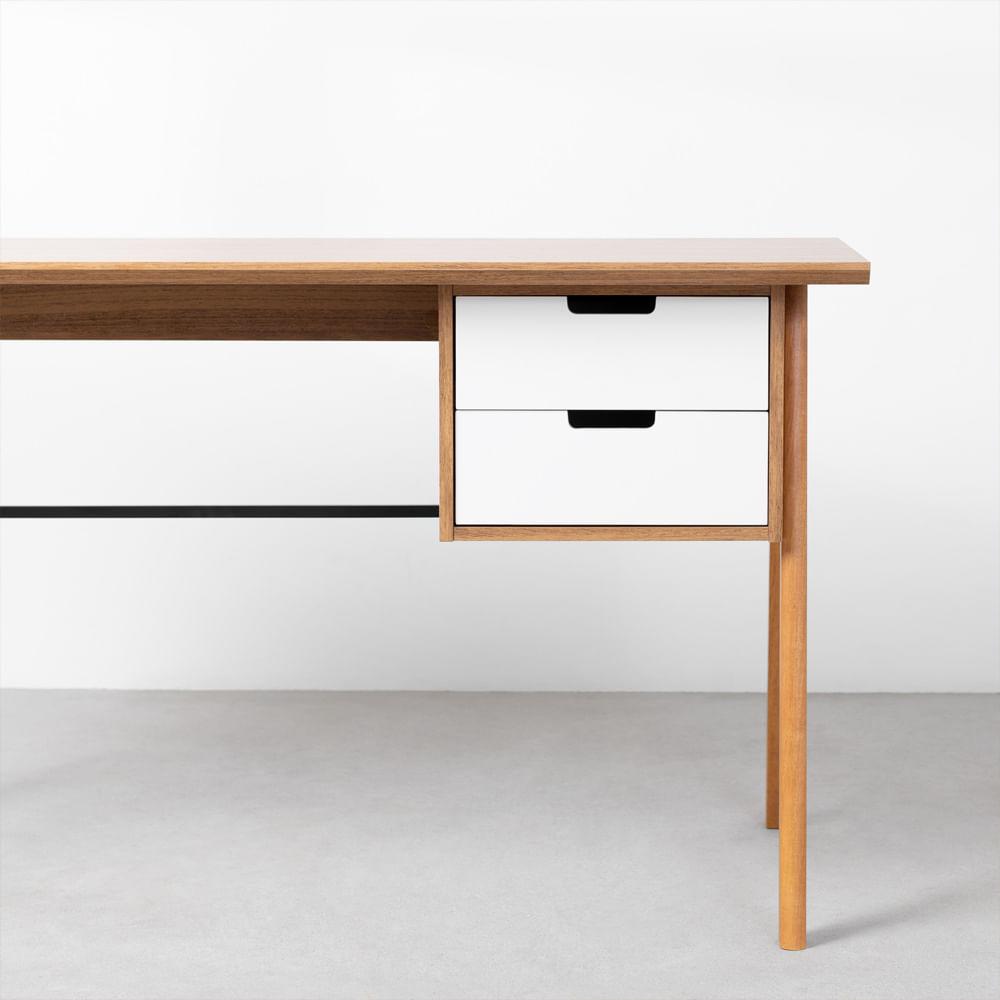 escrivaninha-vintage-louro-freijo-e-branco-gavetas