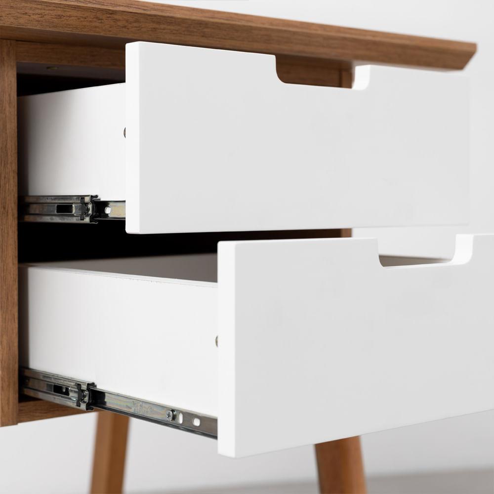 escrivaninha-vintage-louro-freijo-e-branco-detalhe-gavetas-abertas
