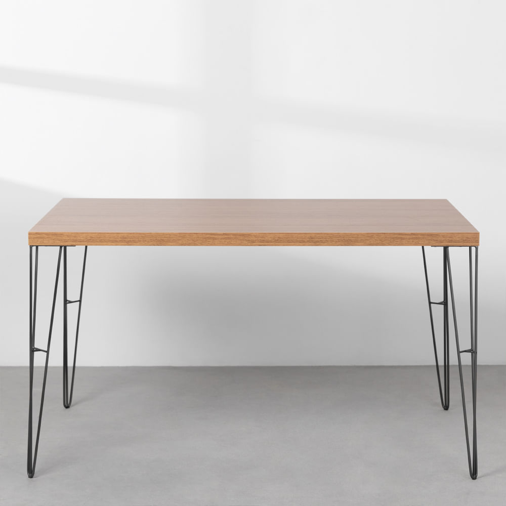 mesa-industrial-iron-louro-freijo-135cm-base-grafite-frontal