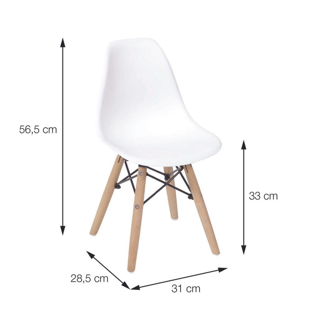 Cadeira-Eiffel-Infantil-Vermelha-com-Pes-de-Madeira
