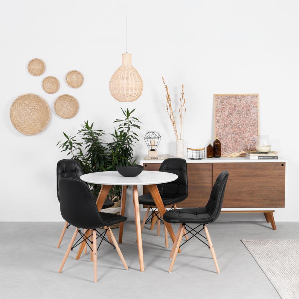 conjunto-mesa-square-redonda-88cm-com-4-cadeiras-eiffel-botone-preta-foto-ambientada