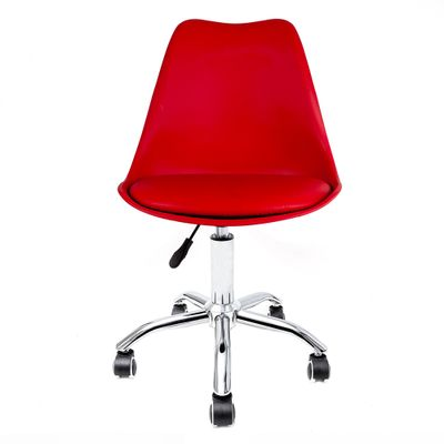 cadeira-de-escritorio-saarinen-giratoria-prata-e-vermelha-frente