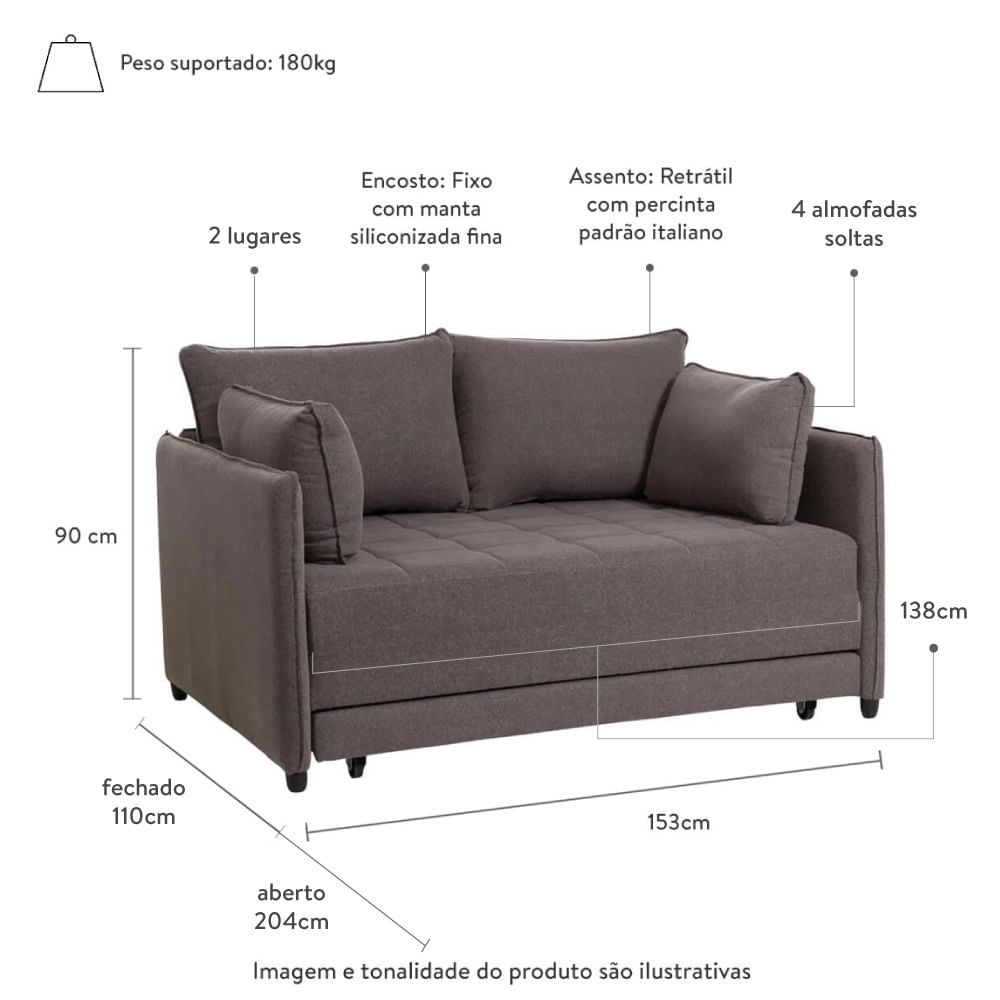 sofa-cama-nino-marrom-153cm-com-medidas-na-imagem